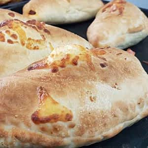 Cream Peppers And Mushrooms Calzone